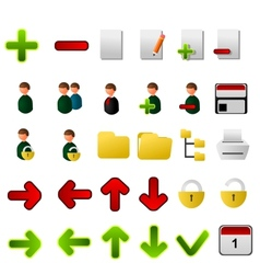 Collection of icons for applications vector image