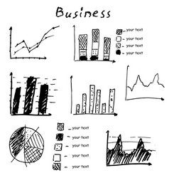 Business finance hand drawn elements vector