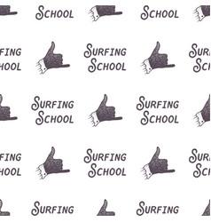 Surfing school old style pattern design summer vector