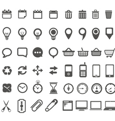 Web icons collection isolated on white vector