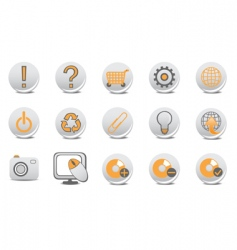 Website and internet buttons vector
