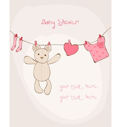 baby shower card with place for your text in vector image