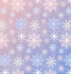 Snowflake seamless pattern gradient rose quartz vector