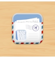Envelope mail app icon vector