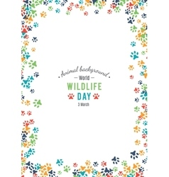 Background of world wildlife day vector