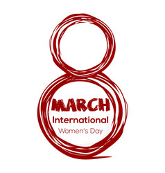 8th march - international womens day vector