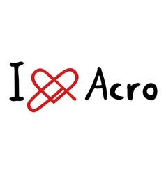 Acro love icon vector