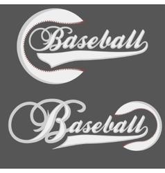 Baseball logotpe vector