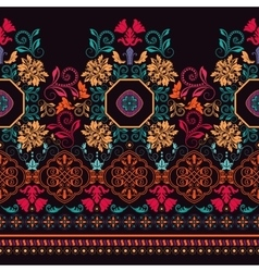 Bright colorful striped floral pattern vector image vector image