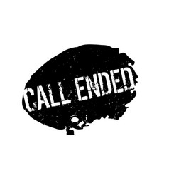 Call ended rubber stamp vector
