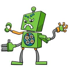 Cartoon robot fantasy character vector