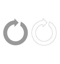 Circle arrow grey set icon vector