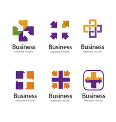 cross plus medical logo icon design template eleme vector image