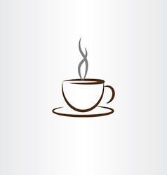cup of coffee with smoke icon vector image vector image