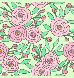 cute pastel peony flowers vector image vector image