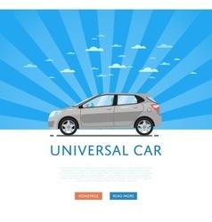 Gray universal citycar vector image vector image