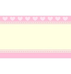 hearts background wallpaper vector image vector image