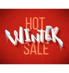 Hot winter sale vector