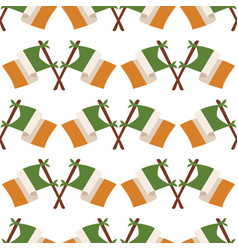 irish flag seamless pattern vector image vector image