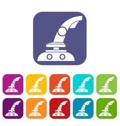 Joystick icons set vector