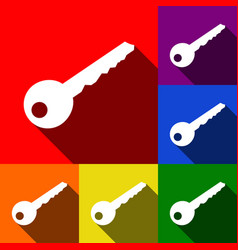 Key sign set of icons with vector