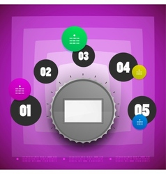 Knob option switch modern template vector image vector image