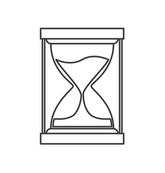 Monochrome silhouette of sand clock icon vector