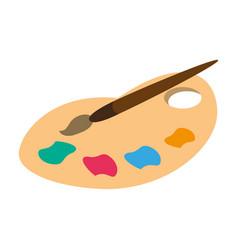 Paint palette mix vector