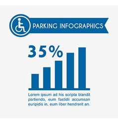 Parking service design vector