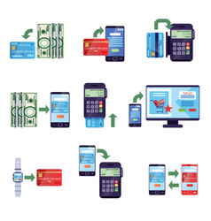 payment methods in retail and online purchases vector image