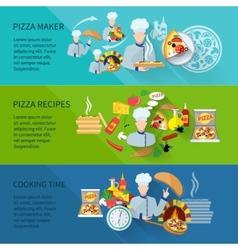 Pizza maker banner vector