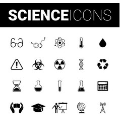 science set icons vector image vector image