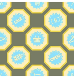 Seamless background with sale sticker vector image vector image