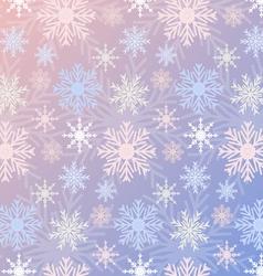 Snowflake seamless pattern gradient rose quartz vector