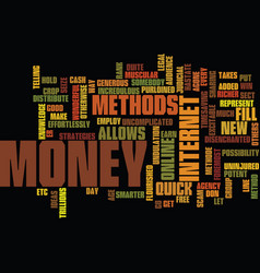 The online quick and legal cash methode no scam vector