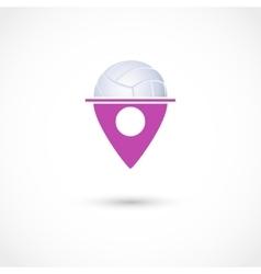 Volleyball club tag vector image vector image