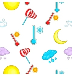 Weather pattern cartoon style vector