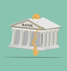 Bank broken vector image