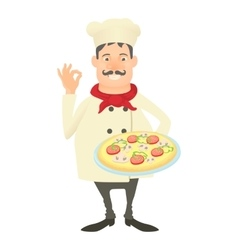 Italy chef icon cartoon style vector