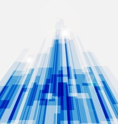 Perspective blue abstract straight lines vector