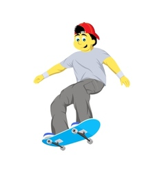 Boy jumping with skateboard vector
