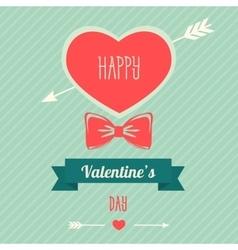 Happy valentines day design template Valentine s vector image