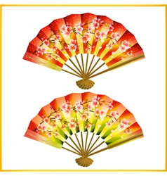 Set of japanese fans vector