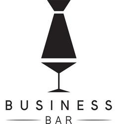 Martini glass and tie design template vector