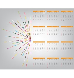 2014 new year calendar vector