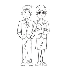 Business people team standing businessman and vector