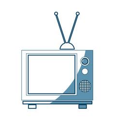 vintage tv screen antenna entertainment analogue vector image