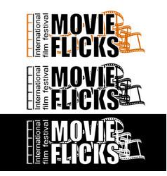 Movie flicks vector