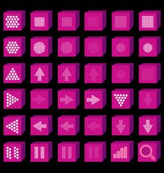 Flat multimedia icons music and sound button set vector