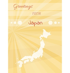 Greetings from japan vector